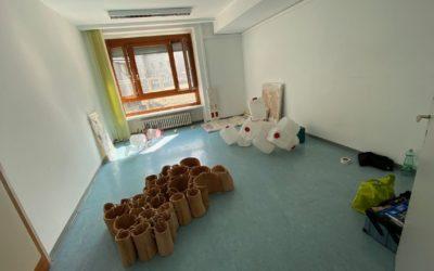 Aufbau fragments & frames Parallel Vienna mit Michael Wegener